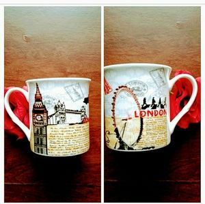 NEW London famous attractions buildings coffee mug